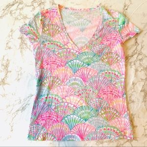 Lilly Pulitzer Sea Shell pullover T Shirt
